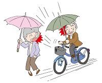 雨の日の自転車は危険