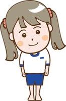 体操服姿の女の子