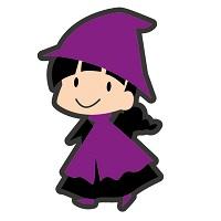 ハロウィンの子供の衣装でチュチュ